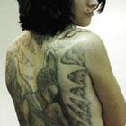 Beautiful Angel Back Tattoo