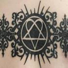 Him Heartagram Back Tattoo
