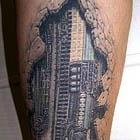 3D Circuit Board Tattoo