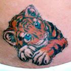 Cute Baby Tiger Tattoo