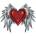 Heart with Wings Tattoo Flash