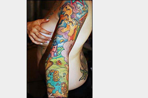 my little pony sleeve tattoo 80s Tattoos That Are Totally Rad
