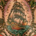 Navy Ship Anchor Portraits Tattoo