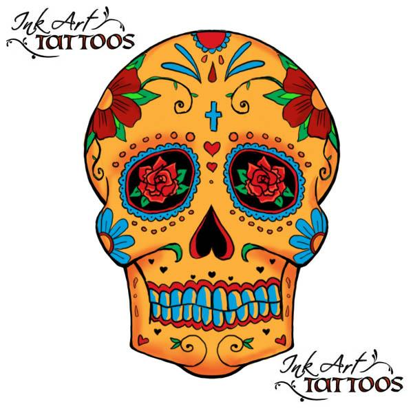 mexican skull tatoo