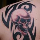 tribal skull tattoo th Tattoo Spots
