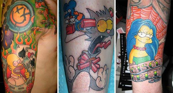 20 Simpsons Tattoos Celebrate 20 Years of The Simpsons with 20 Tattoos
