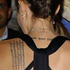 Angelina Jolie Sanskrit Prayer Tattoo