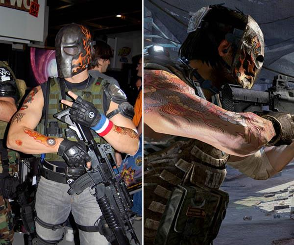 Army of Two Salem Tattoos iat Video Game Characters with Cool Tattoos