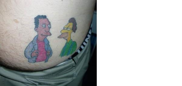 Carl and Lenny's relationship is already a little awkward… the butt tattoo