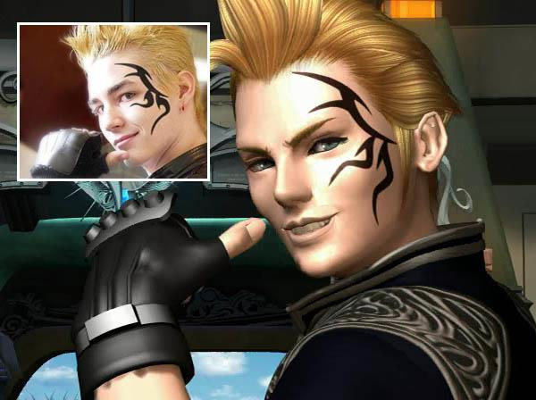 FF8 Zell Dincht face tattoo iat Video Game Characters with Cool Tattoos