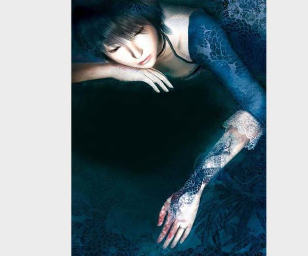 Rei Kurosawa from Fatal Frame 3 · Rei's tattoo actually plays an integral