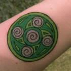 Green Celtic Swirl Tattoo