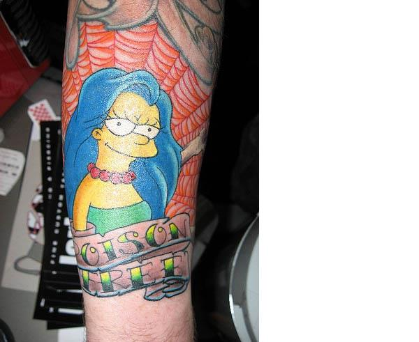 High School Marge Tattoo Celebrate 20 Years of The Simpsons with 20 Tattoos