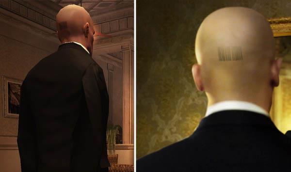 Hitman Agent 47 barcode tattoo iat Video Game Characters with Cool Tattoos