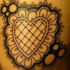 Kukula Lace Heart Tattoo
