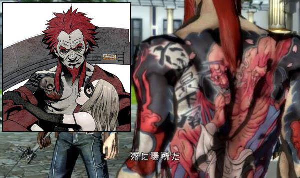 No More Heroes Death Metal Tattoos iat Video Game Characters with Cool Tattoos