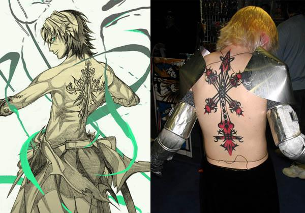 Sidney Vagrant Story Rood Inverse tattoo iat Video Game Characters with Cool Tattoos