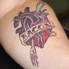 Bacon Heart Tattoo