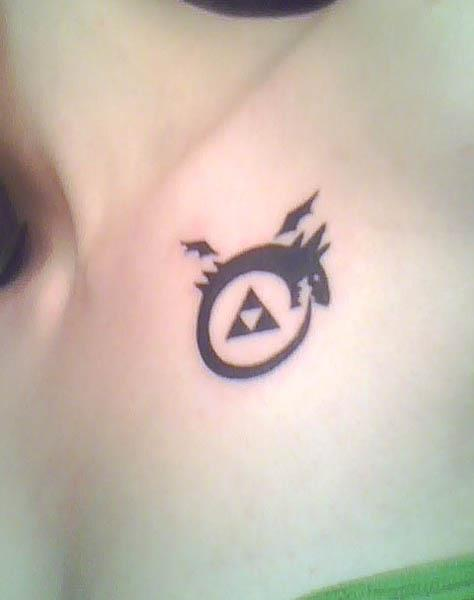 dragon triforce tattoo Homunculi  Tattoo
