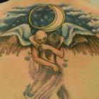 Embrace in Moonlit Serenade Tattoo
