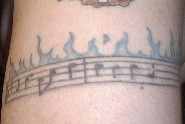 tattoos of music. tattoos of music notes.