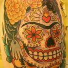 Frida Kahlo Sugar Skull Tattoo