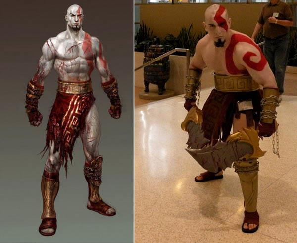 god of war kratos red tattoo iat Video Game Characters with Cool Tattoos