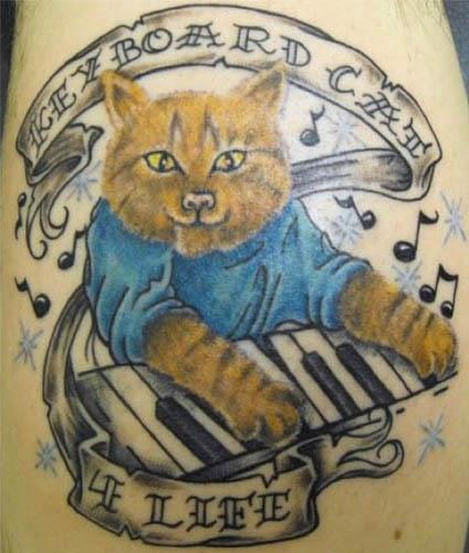 keyboard cat for life tattoo Internet Tattoos Are Serious Business