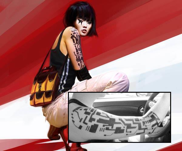 mirrors edge faith tattoos iat Video Game Characters with Cool Tattoos