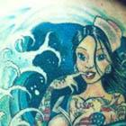 Nauty Nautical Pinup Girl Tattoo (NSFW)