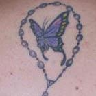 Rosary Butterfly Tattoo