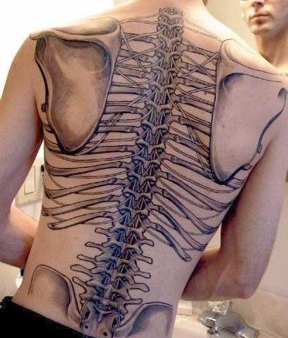 skeletal back tattoo Skeletal Full Back Tattoo
