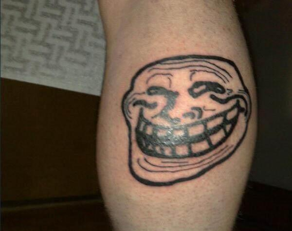 trollface coolface tattoo Internet Tattoos Are Serious Business