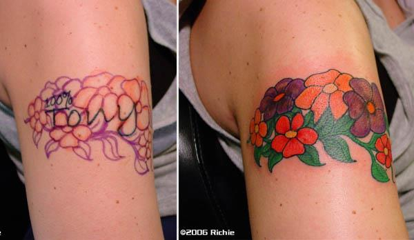 name cover up tattoo