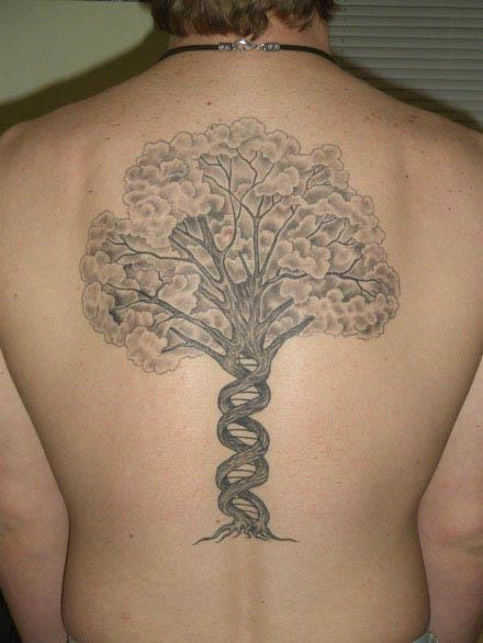 DNA Tree Back Piece Tattoo DNA Tree Back Piece