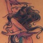 Beautiful Long-tailed Mermaid Tattoo