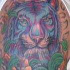 Blue & Purple Tiger Tattoo