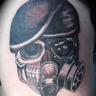 Gas Mask Skull Tattoo
