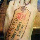 Infected Toe Tag Tattoo