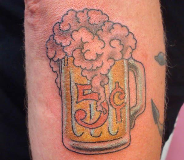 5 cent beer tattoo A Sobering