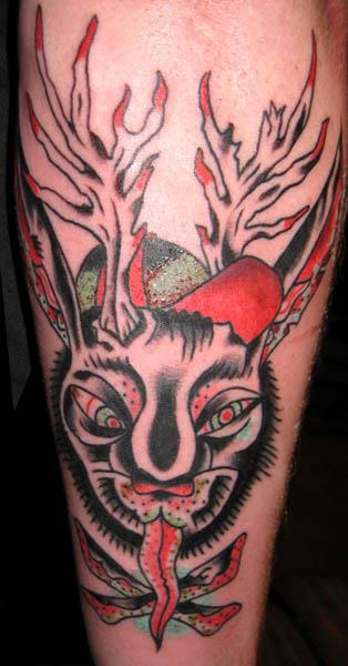 Jackalope Tattoo 05 Jackalope Tattoos: Each One Weirder Than the Last