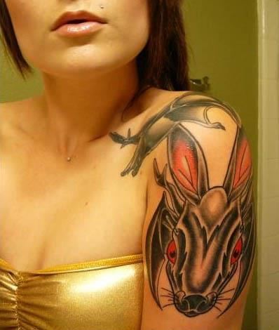 Jackalope batwings tattoo 11 Jackalope Tattoos: Each One Weirder Than the Last
