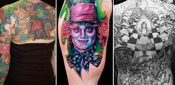 amazing alice in wonderland tattoos Ink in Wonderland: 25 Mad Alice in Wonderland Tattoos