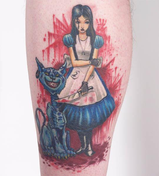 american mcgee alice tattoo Ink in Wonderland: 25 Mad Alice in Wonderland Tattoos