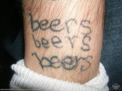 beersbeersbeers tattoo A Sobering Look At Booze Tattoos