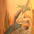 Blue Heron Bird Tattoo