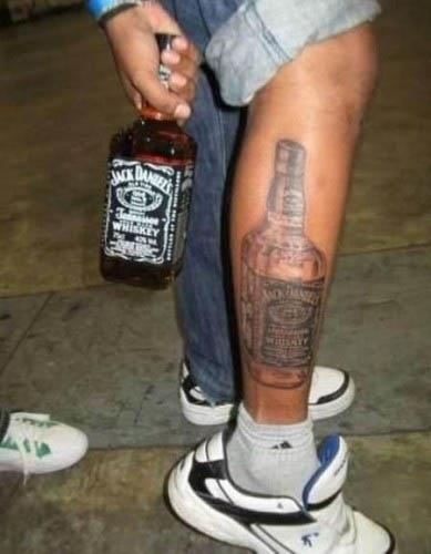 bottle of jack daniels tattoo A Sobering Look At Booze Tattoos