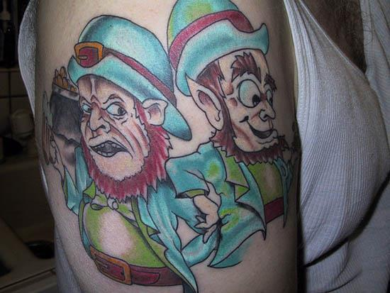 drinking leprechauns tattoo A Sobering Look At Booze Tattoos