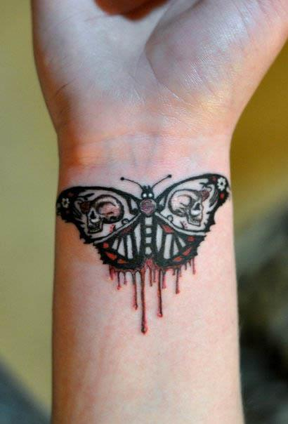 evil moth tattoo Evil Moth Tattoo