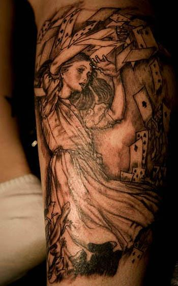 lewis carroll alice cards tattoo Ink in Wonderland: 25 Mad Alice in  Wonderland Tattoos
